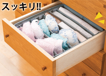 【アイデア雑貨】臭いスッキリ竹炭仕切り整理BOX(大) コジット
