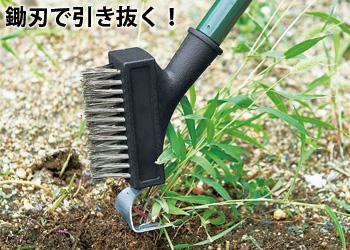 【アイデア雑貨】楽ちん2way除草ブラシ  コジット