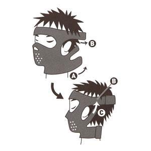 【アイデア商品】メンズゲルマニウム小顔サウナマスク
