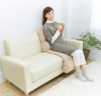 【アイデア雑貨】ソファに温!毛布クッション