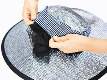 【アイデア雑貨】アルミ虫除けガーデニング帽子