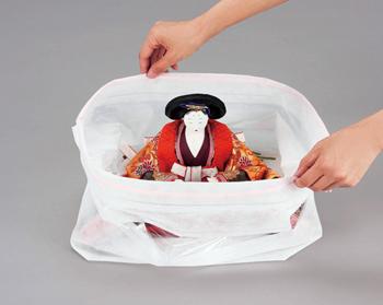 【アイデア雑貨】ひな人形収納パック (大小セット)