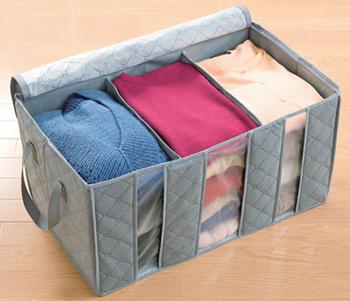 【アイデア雑貨】竹炭衣類整理袋 小