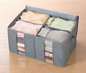 【アイデア雑貨】竹炭衣類整理袋 中
