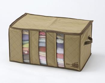 【アイデア雑貨】竹炭配合衣類整理袋 小
