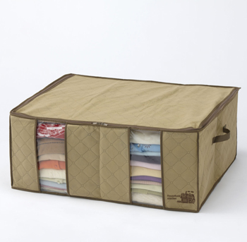 【アイデア雑貨】竹炭配合衣類整理袋 大